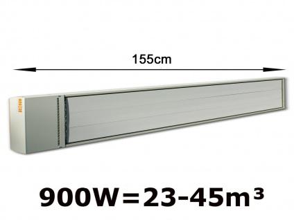 900W Industrie-Strahlungsheizung für Räume 23-45m³, pulverbeschichtet