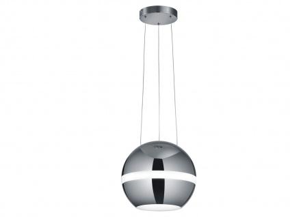 LED Pendelleuchte Kugel Lampenschirm Chorm poliert Ø 30cm dimmbar -Esstischlampe