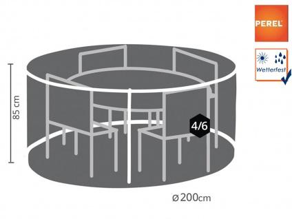 Schutzhülle Abdeckung rund für Gartenmöbel, Plane Ø 200cm witterungsbeständig
