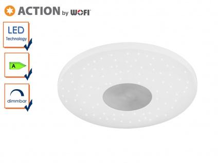 LED Deckenleuchte mit Sternhimmel-Effekt, dimmbar, Ø 34 cm Deckenschale flach