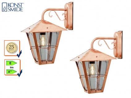 2er Set Außenwandleuchte Kupfer / Arylglas, Fassadenbeleuchtung, Konstsmide