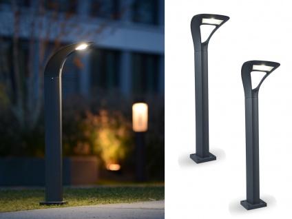 LED Stehleuchten 2er SET für den Außenbereich ausgefallenes Design ALU Anthrazit