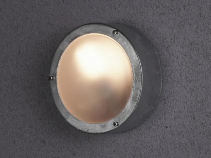 Runde Außenleuchte Deckenlampe im Industrie Look für Garage, Fassadenbeleuchtung