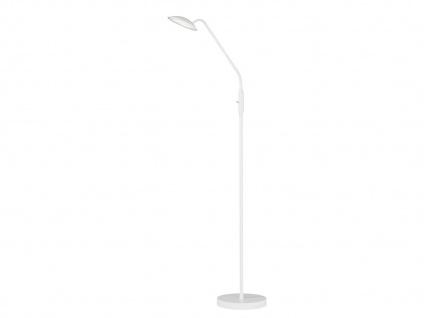 Flexible LED Stehhleuchte Leselampe Weiß 12W H. 150cm - moderne Wohnzimmerlampe - Vorschau 1