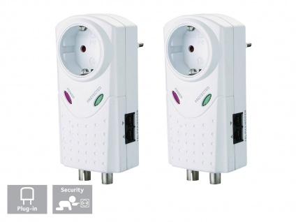 2er-Set Überspannungschutz Geräteschutzadapter Überspannungsstecker