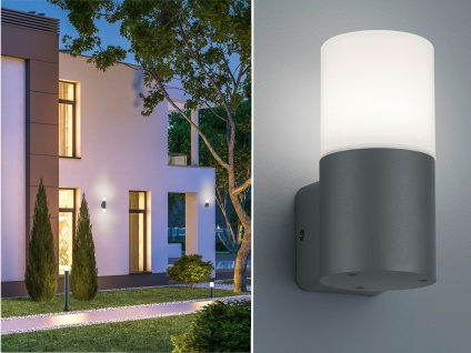 Runde LED Außenwandleuchten Anthrazit Außenleuchten für Hauswand Außenbereich