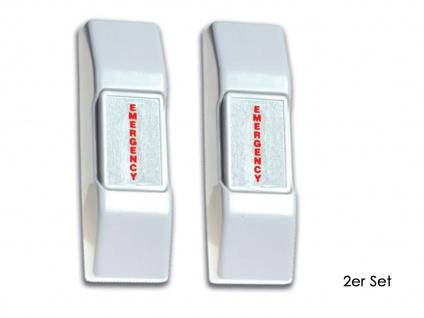 2er Set Panikschalter, NC-& NO-Anschluss, Off/On, Sicherheitstechnik Alarm
