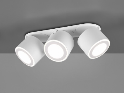 LED Deckenstrahler 3-flammig Weiß schwenkbare Deckenlampen für Flur und Diele - Vorschau 4