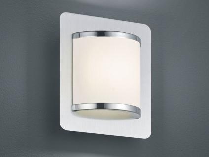 Moderne LED Innenwandleuchte mit Schalter, Silber matt Metall & Kunststoff weiß