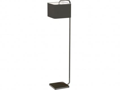 Moderne Stehlampe CUBE mit dimmbare LED, eckiger Stoffschirm schwarz, Wohnraum