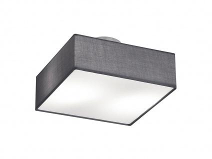 Deckenleuchte Deckenlampe EMBASSY Stoffschirm grau 30 x 30cm 2x E14