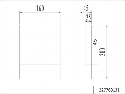 LED Wandlampen SET für draußen - 2 Hausnummernleuchten, Aluminium Anthrazit IP54 - Vorschau 5