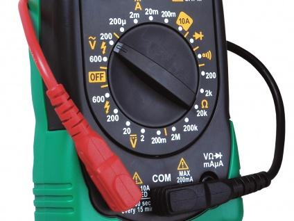 Multimeter Spannungsprüfer Voltmeter Meßgerät AC/DC-Spannung Widerstand - Vorschau 3