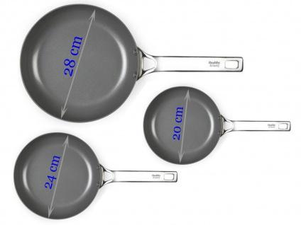 3er SET Keramikpfannen ANTIHAFTBESCHICHTET für Induktion geeignet Ø 20/24 /28 cm - Vorschau 1