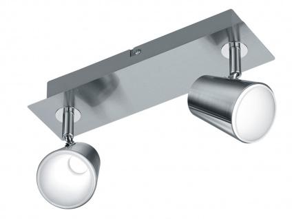 LED Wandstrahler Nickel matt 2 Spots schwenkbar 12W - Wandleuchten Wohnzimmer