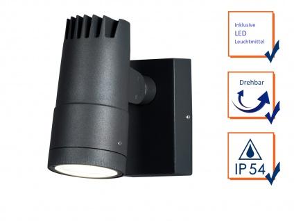 2 x ALU LED Wandleuchten für außen schwenkbar, Lichtaustritt 0°-90° verstellbar - Vorschau 3