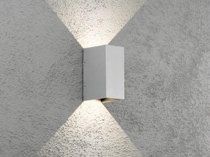 ALU LED Wandlampe in Grau für außen&innen Lichtaustritt bis 90° verstellbar IP54