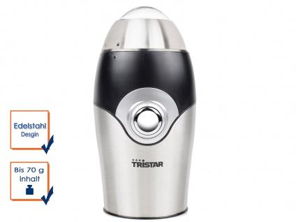 Kaffeemühle elektrisch 150W, Edelstahl Hackmesser RETRODESIGN Gewürzmühle