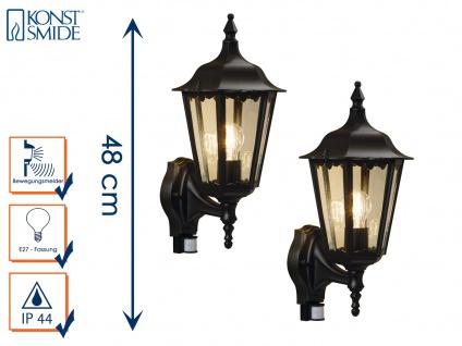 2er-Set schwarze Aussenwandleuchten Wandleuchte Wandlampe Gartenlampe