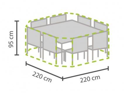 Schutzhülle Abdeckung achteckig 220x220cm für Gartenmöbel, Plane wasserdicht