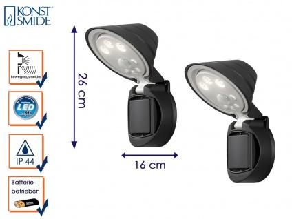 2er Set LED Wandaufbauleuchte Bewegungsmelder Batteriebetrieb Wandleuchte außen