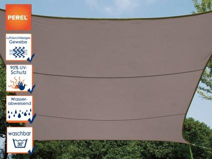 Sonnensegel rechteckig 6m² braun Sonnenschutz für Terrasse Balkon Terrassensegel
