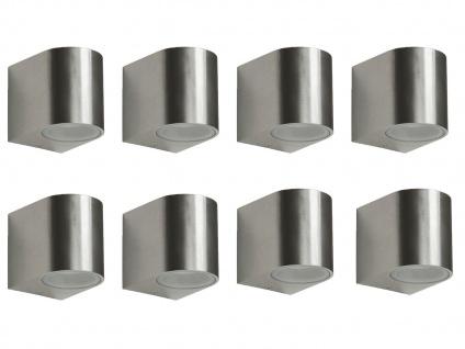 8er Set Ranex SMD-LED Wandleuchte Metall, downlight, IP44, 230Lm