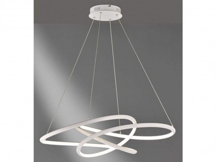 Dimmbare LED Pendelleuchte weiß 63x91cm, modernes Design, Esstischlampe Küche