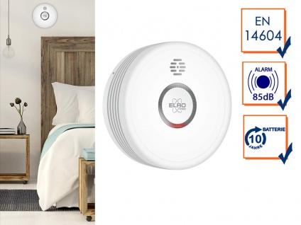 ELRO 10 Jahres Rauchmelder schlafzimmertauglich - Feuermelder Detektor DIN 14604