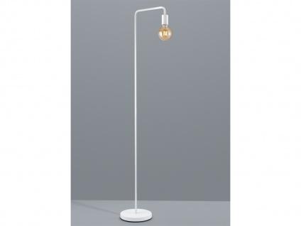 Stehleuchte mit FILAMENT LED im Retro Style 149cm hoch aus Metall in weiß matt