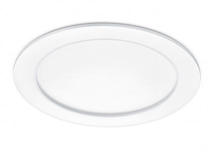 Runder LED Einbaustrahler Decke dimmbar Weiß matt 18W IP44 - Deckenbeleuchtung