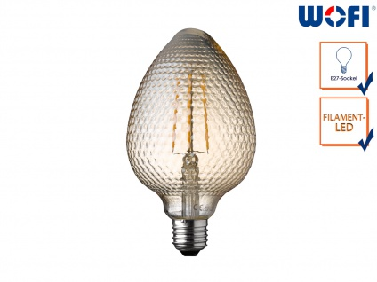 FILAMENT LED Leuchtmittel Zapfenform 4 Watt, 300 Lumen, 1800 Kelvin, E27-Sockel