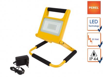 20W LED Baustrahler klappbar mit Akku, Fluter Arbeitsscheinwerfer für Baustelle