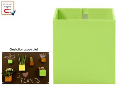 Kunststofftopf mit Magnet Ø 6 cm Lime, Wanddeko Wandaufbewahrung, KalaMitica