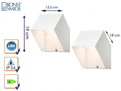 2er Set LED Außenwandleuchte Alu weiß IP54 6W UP/Down Fassadenbeleuchtung