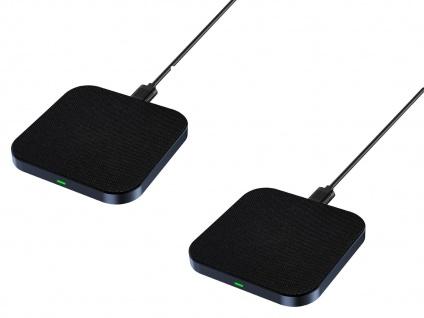 2x QI Schnellladegerät kabelloses Smartphone Aufladen - induktive Ladestationen