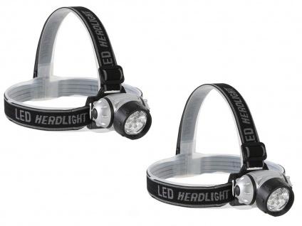 Set: LED Stirnlampen Kopflampe extra hell, Wandern Trekking Camping Outdoor Jagd - Vorschau 2