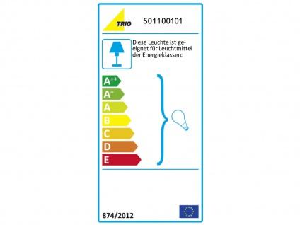 TRIO Design Nachttischleuchte Lampenschirm Stoff rund weiß Ø20cm E14 - Flurlampe - Vorschau 3