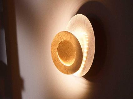 Design LED Wandleuchte 10 Watt Goldfarben Ø 24 cm - elegante Wohnraumleuchten