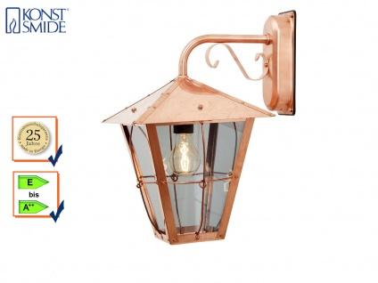 Außenwandleuchte Kupfer / Acrylglas, Fassadenbeleuchtung, E27, Konstsmide