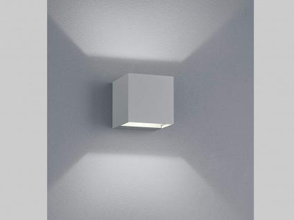 ALU LED Wandleuchte für außen UP & DOWN für Garten & Terrasse titanfarben H8cm