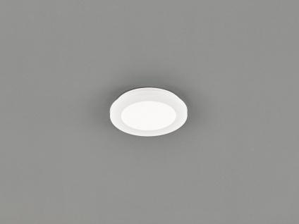 Kleine LED Deckenleuchte CAMILLUS flache Badezimmerlampe Rund Ø17cm in Weiß IP44
