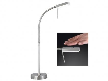 LED Tischlampe mit Gestensteuerung dimmbar Nickel matt 4, 65W flexibel Wohnzimmer
