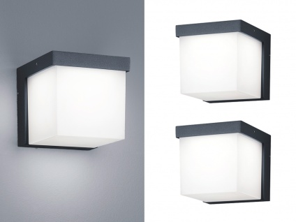 Eckige LED Außenwandleuchten Anthrazit 2 Außenleuchten für Hauswand Außenbereich