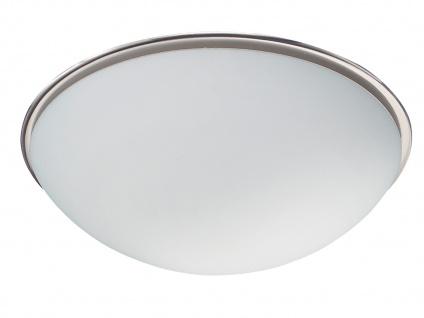 TRIO Deckenleuchte, 2 x E27, Ø 40cm, Glas opal matt, Nickel matt