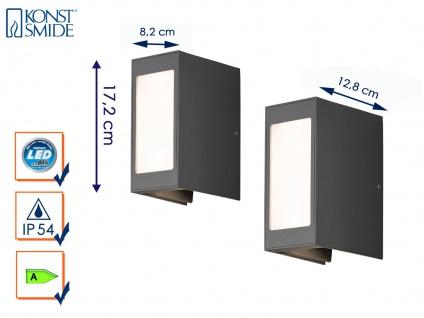 2er Set LED Außenwandleuchte Alu anthrazit IP54 Außenleuchten Wegeleuchten - Vorschau 1