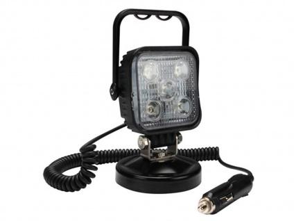 LED Scheinwerfer Arbeitsleuchte mit Magnet - Werkstattlampe Zigarettenanzünder