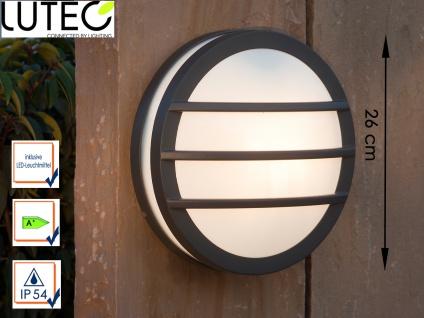 Design Außenwandleuchte mit LED Ø26cm Druckguss Aluminium IP54 Wandleuchten