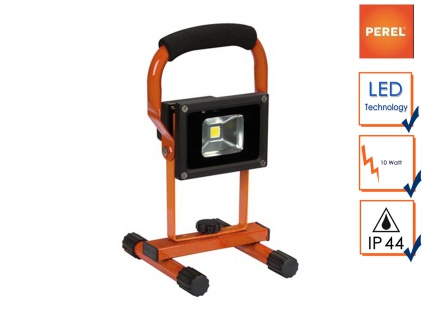 LED Baustrahler 10W neutralweiß mit Akku, Fluter Arbeitsleuchte Akkustrahler