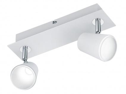 LED Wandstrahler Weiß matt 2 Spots schwenkbar 12W - Deckenleuchten Wohnzimmer